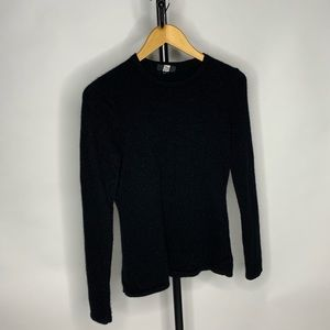 Sacks Fifth Ave Black Scoop Neck Cashmere Sweater